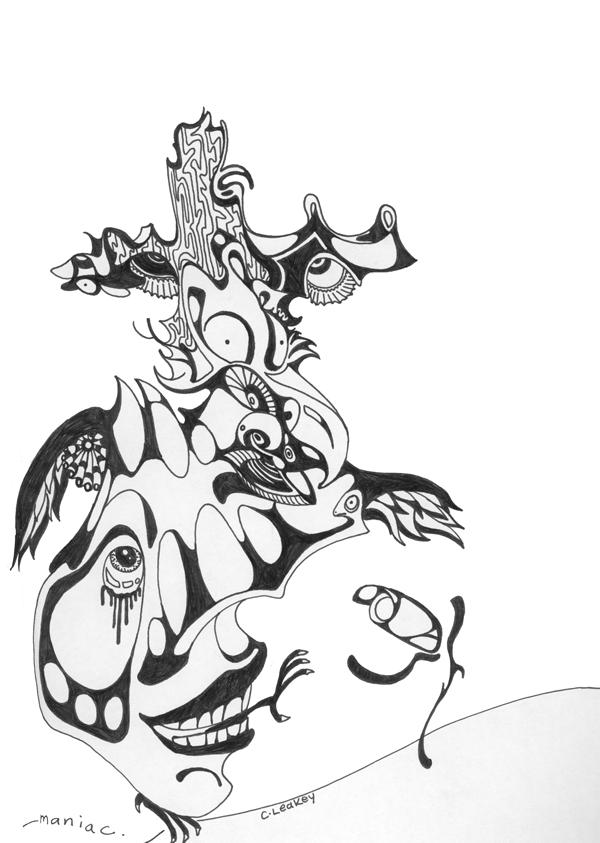 Maniac   1998 ink on paper