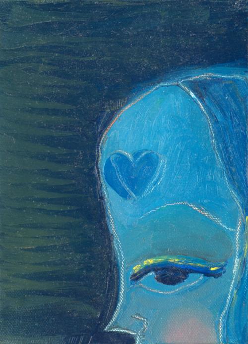 Blue Girl   2000 acrylic on canvas