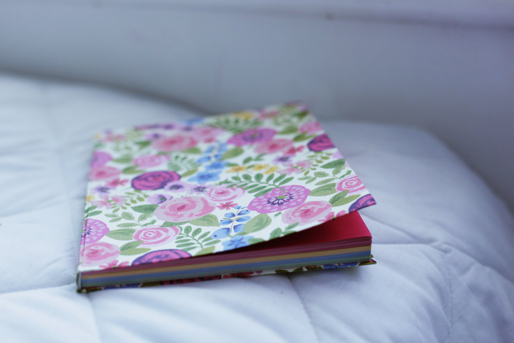 the prettiness of the notebook dictates the content