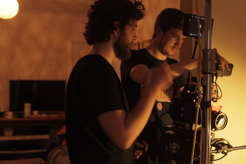 Rob (DoP) and Sel (1st AC)