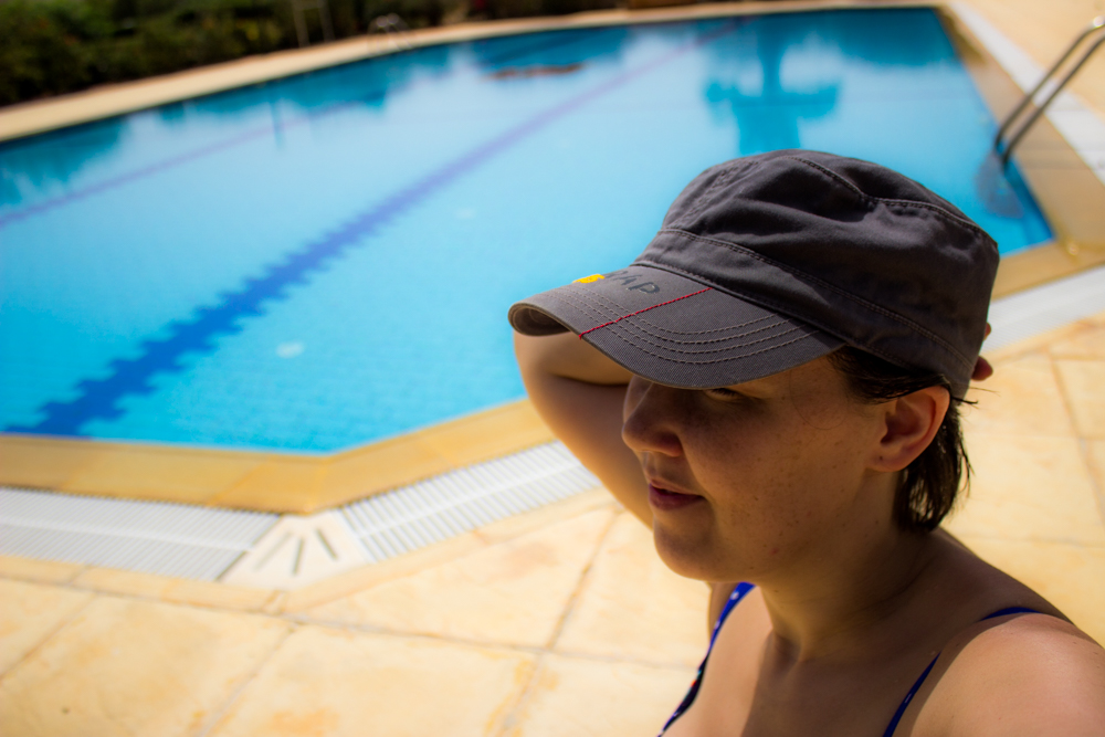 DSLR Pool Selfie - I love the clarity and depth the Canon 600D gives...