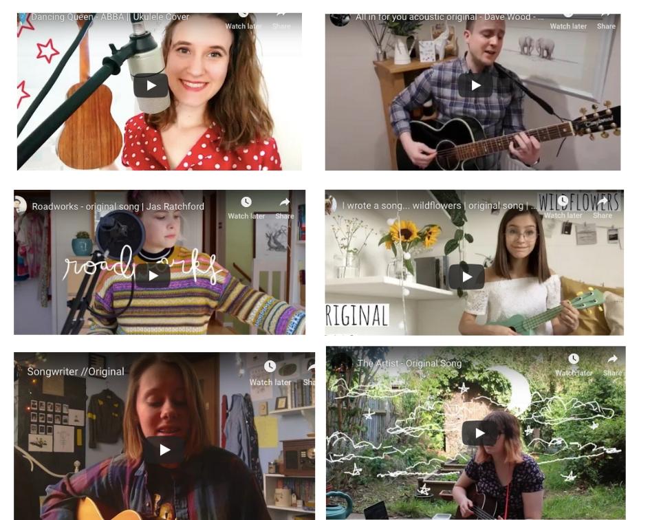 Singer-Songwriters - On YouTube | 2019
