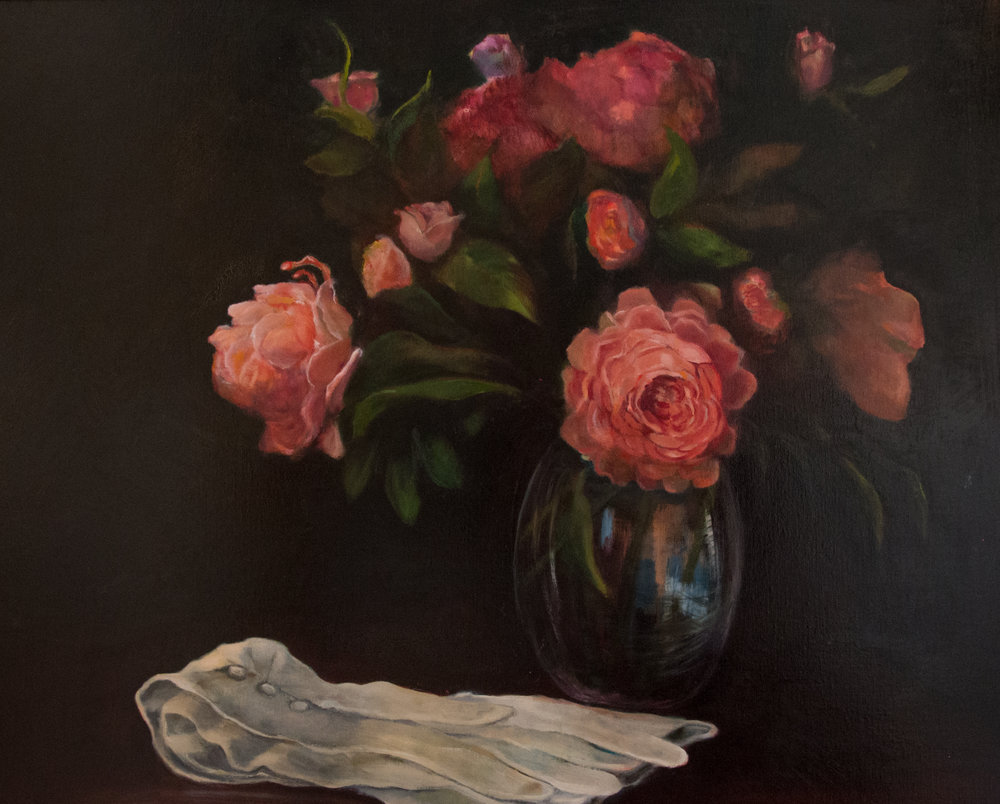 Peonies & Gloves