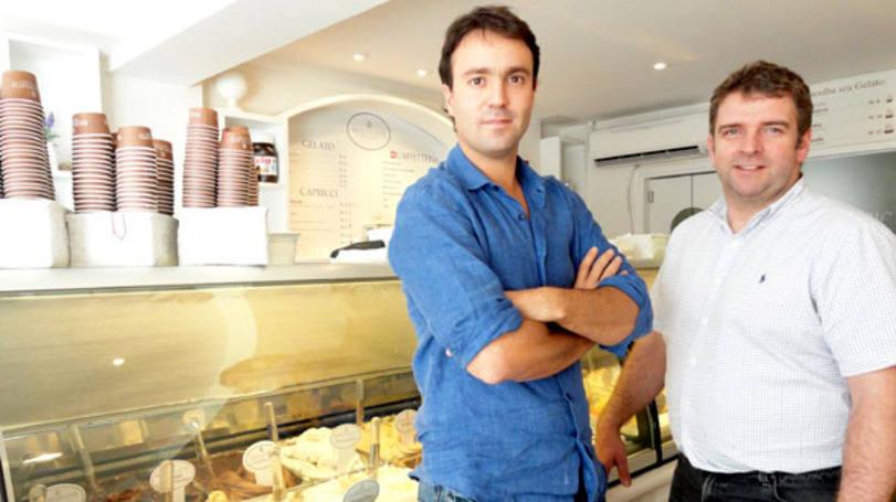 L'italiano Edoardo Tonolli e lo scozzese Nick Johnston, soci della gelateria Bacio di Latte