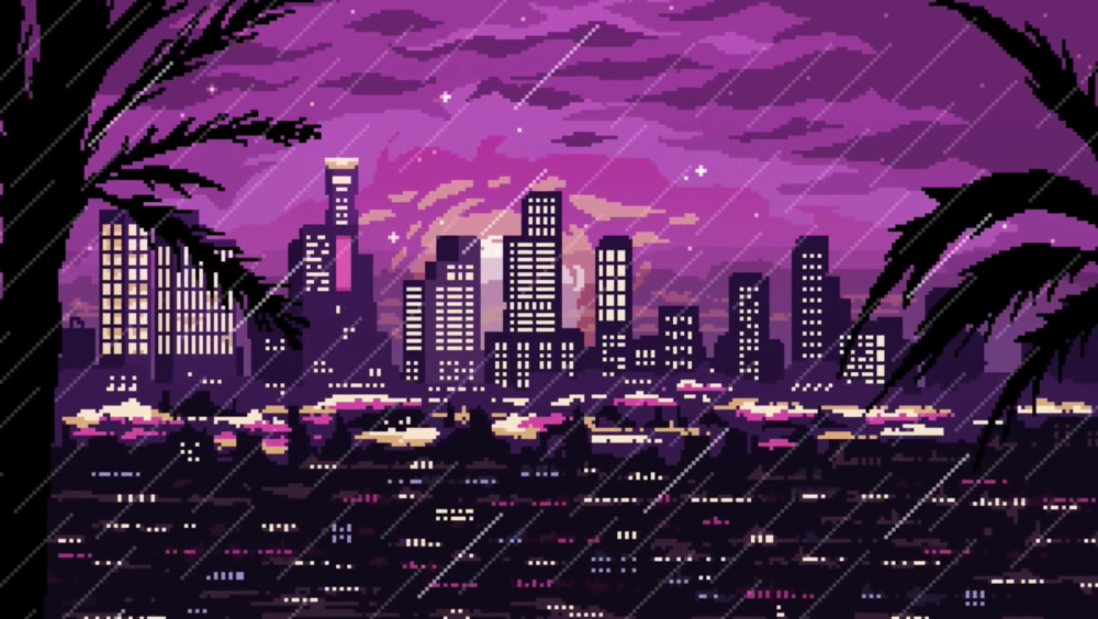 Video animation and pixel-art by German artist, Valenberg