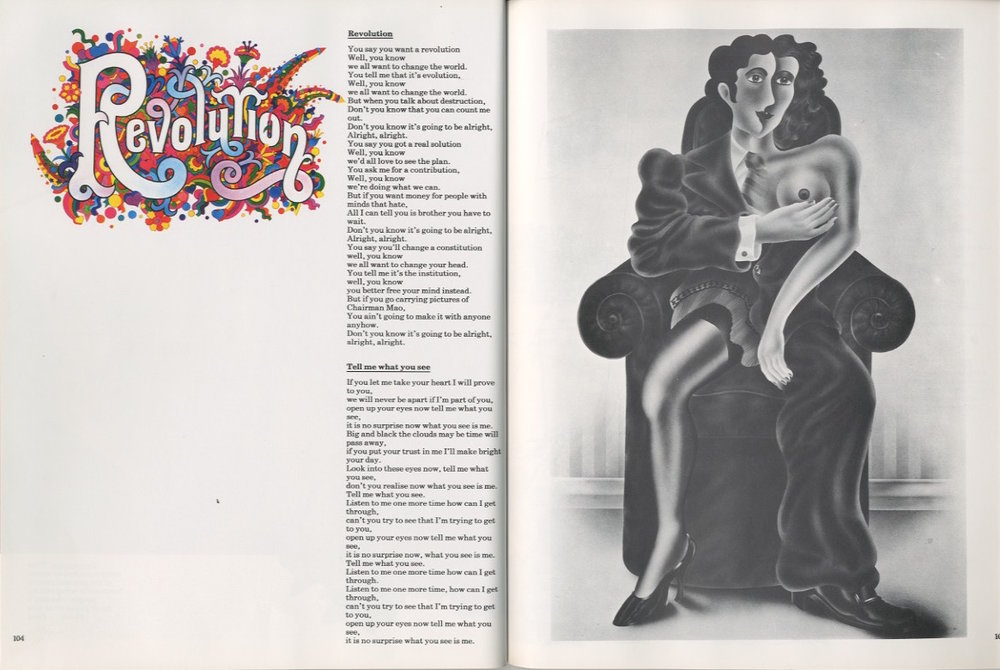 """Revolution"" (1968), ""Tell Me What You See"" (1965)"