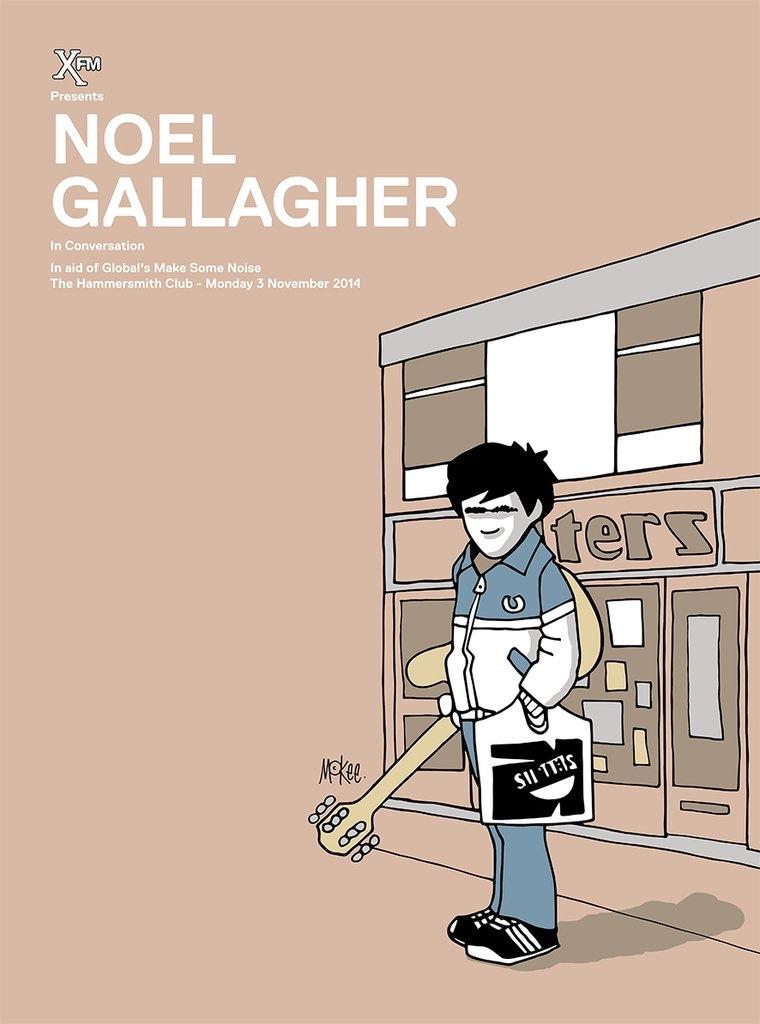 Noel Gallagher in conversation for Xfm