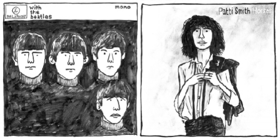 With The Beatles , The Beatles (1963) /  Horses , Patti Smith (1975)