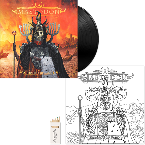 mastodon.com exclusive bonus colour-in vinyl jacket