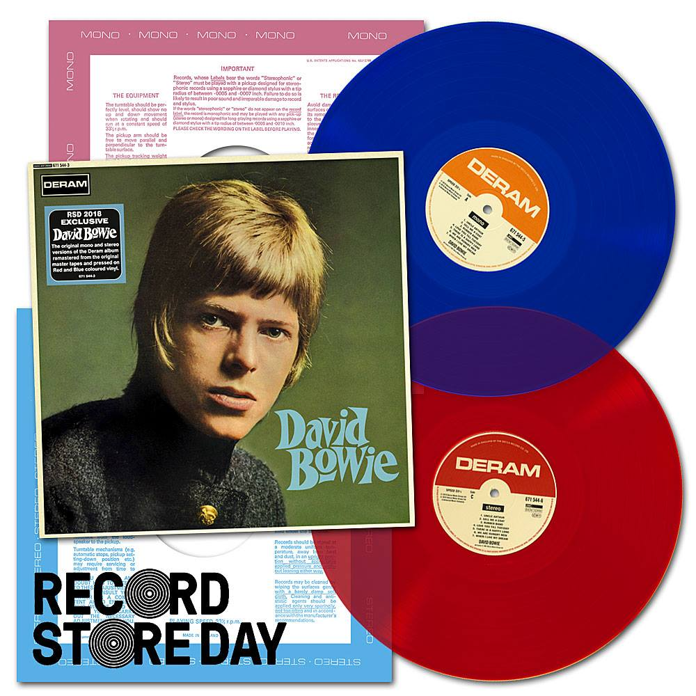"David Bowie , David Bowie / Double disc gatefold, 12"" 'Blue' Mono vinyl, 12"" 'Red' Stereo vinyl"