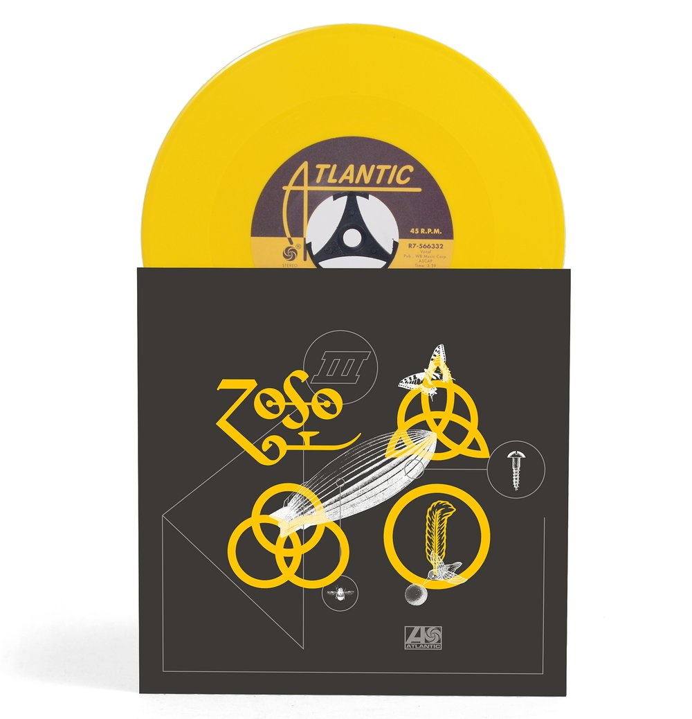 """Rock And Roll , Led Zeppelin / 7"""" 'Yellow' vinyl"""