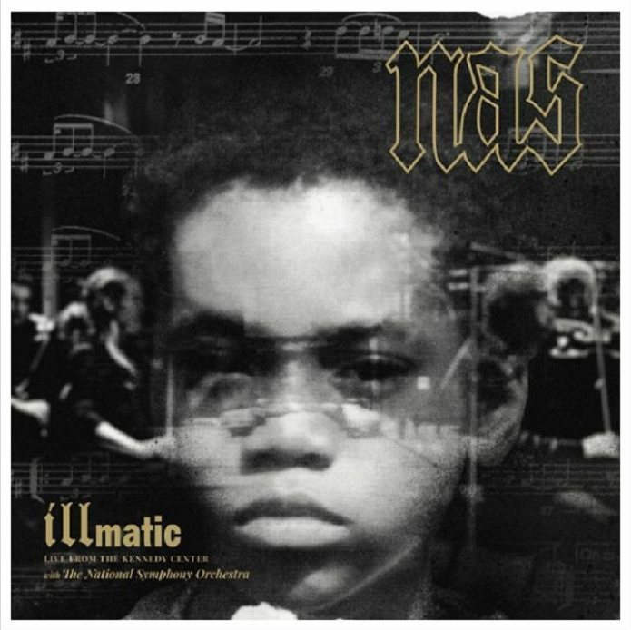 illmatic: Live From The Kennedy Centre , Nas / Gatefold, 180g double LP, complete with two-sided poster and orchestral sheet music book, with exclusive photos from performance