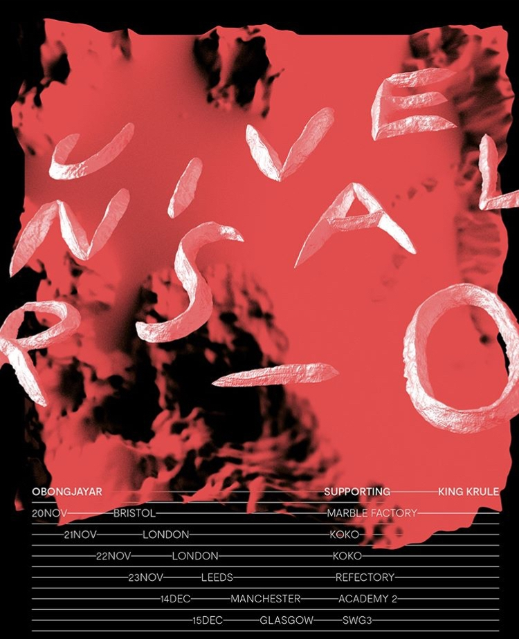 Obongjayar tour poster w/ King Krule