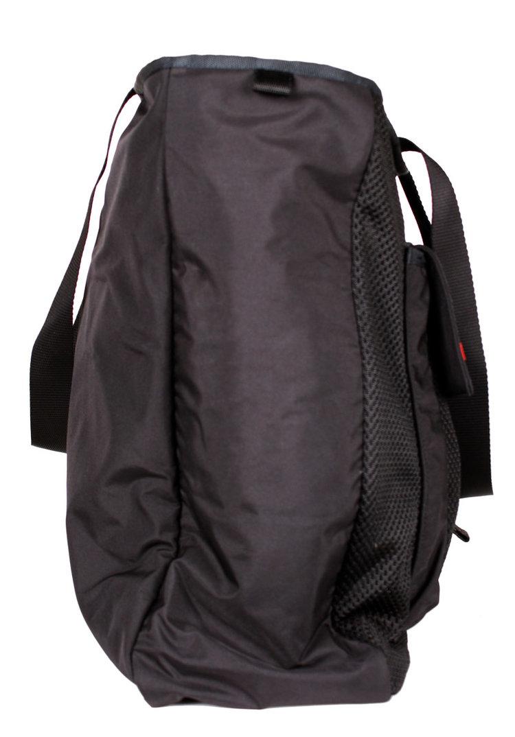 feaf46cb52eae0 Prada Large Black Nylon Bag with Netting and Front Pocket ...