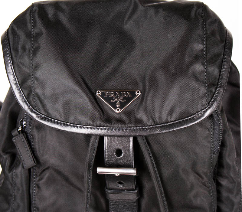 bc31d094a8d3 Prada Small Black Nylon Backpack with Leather Trim. prada-2010 (1).jpg.  prada-2010 (2).jpg