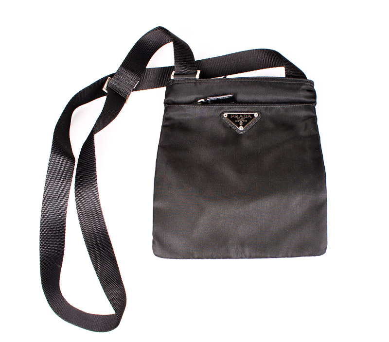 901d2893933d Prada Small Black Flat Shoulder Bag
