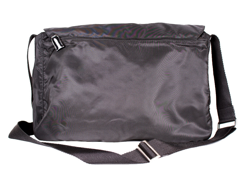 c147fa0610ffcd Prada Large Black Nylon Messenger Bag — trunkshowSALE