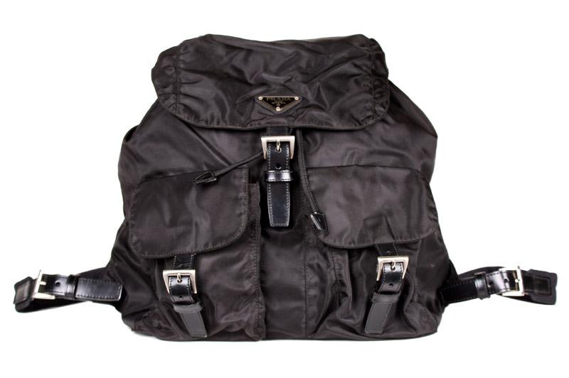f7f82c518982db Prada Large Black Nylon Backpack — trunkshowSALE