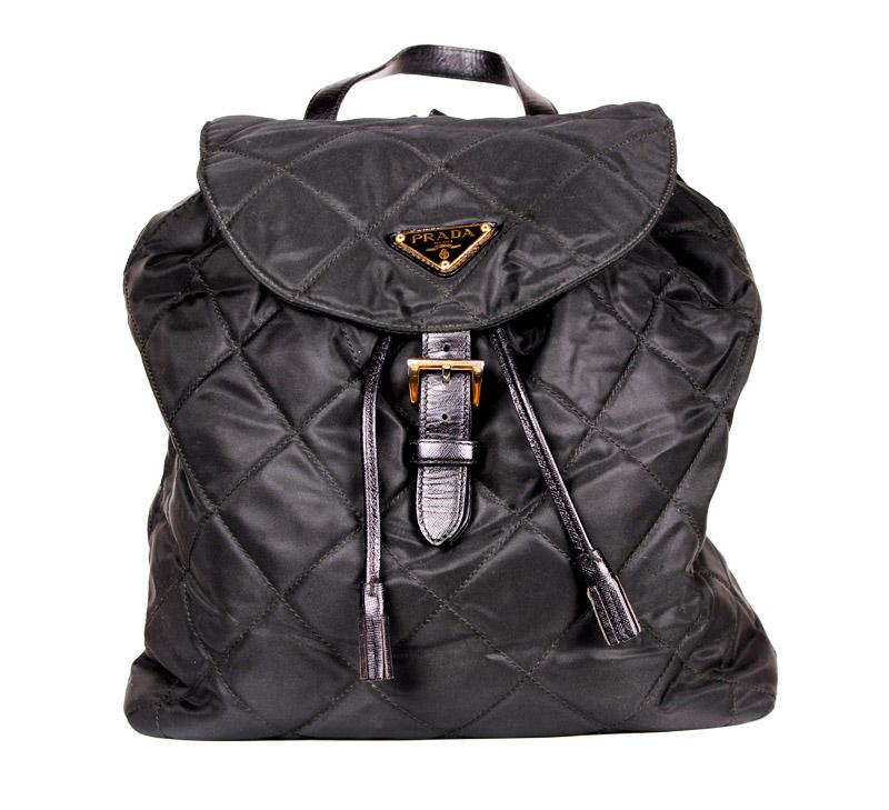 c48ed8921 Prada Black Medium Quilted Backpack — trunkshowSALE