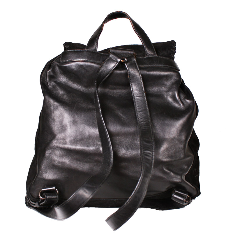 5213e7a30169 ... promo code prada black soft suede and leather backpack with tassels  u2014 trunkshowsale 6a9a1 05b38 ...