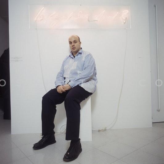 Dimitrios Antonitsis photographed at a past exhibition