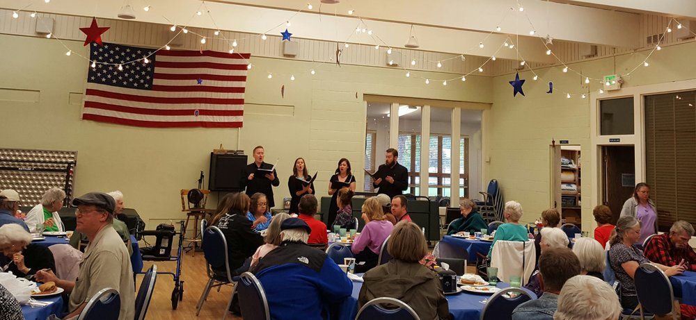 Quadrivium performs for over 80 seniors and community members at the Durango-La Plata County Senior Center, September 2016