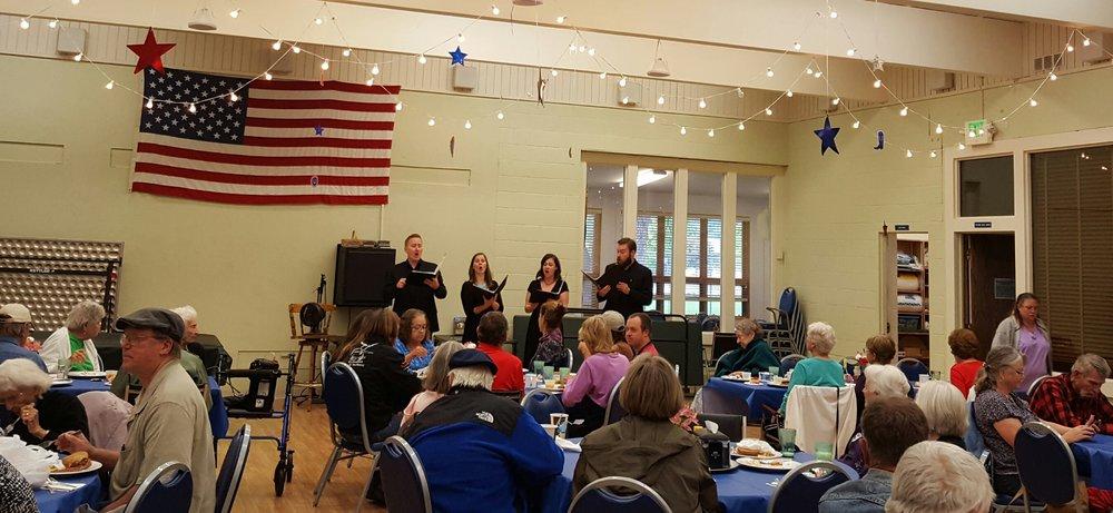 Quadrivium performs for over 80 seniors and community members at the Durango-La Plata County Senior Center