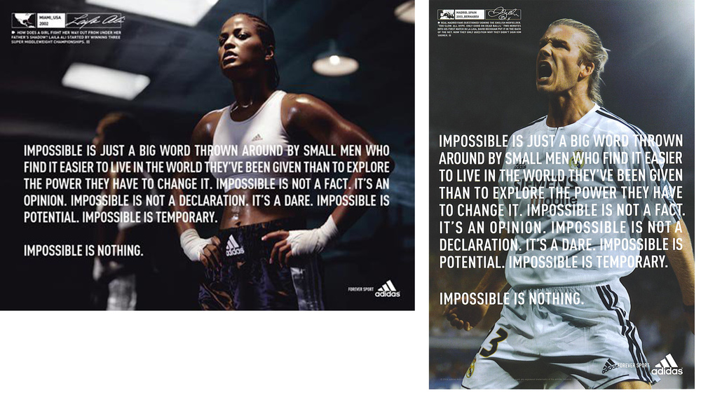 Impossible is Nothing Adidas — Aimee Lehto Schewe 3bcb6af3d