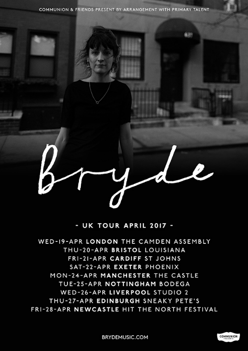 COMMUNION and Primary Talent present Bryde's April 2017 tour! Tickets here:  http://www.brydemusic.com/shows/