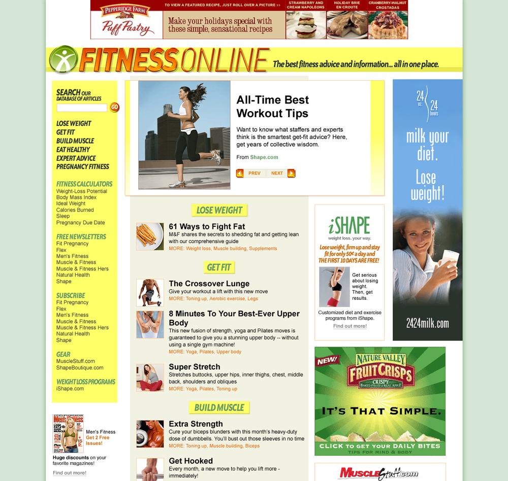 Fitness news aggregator