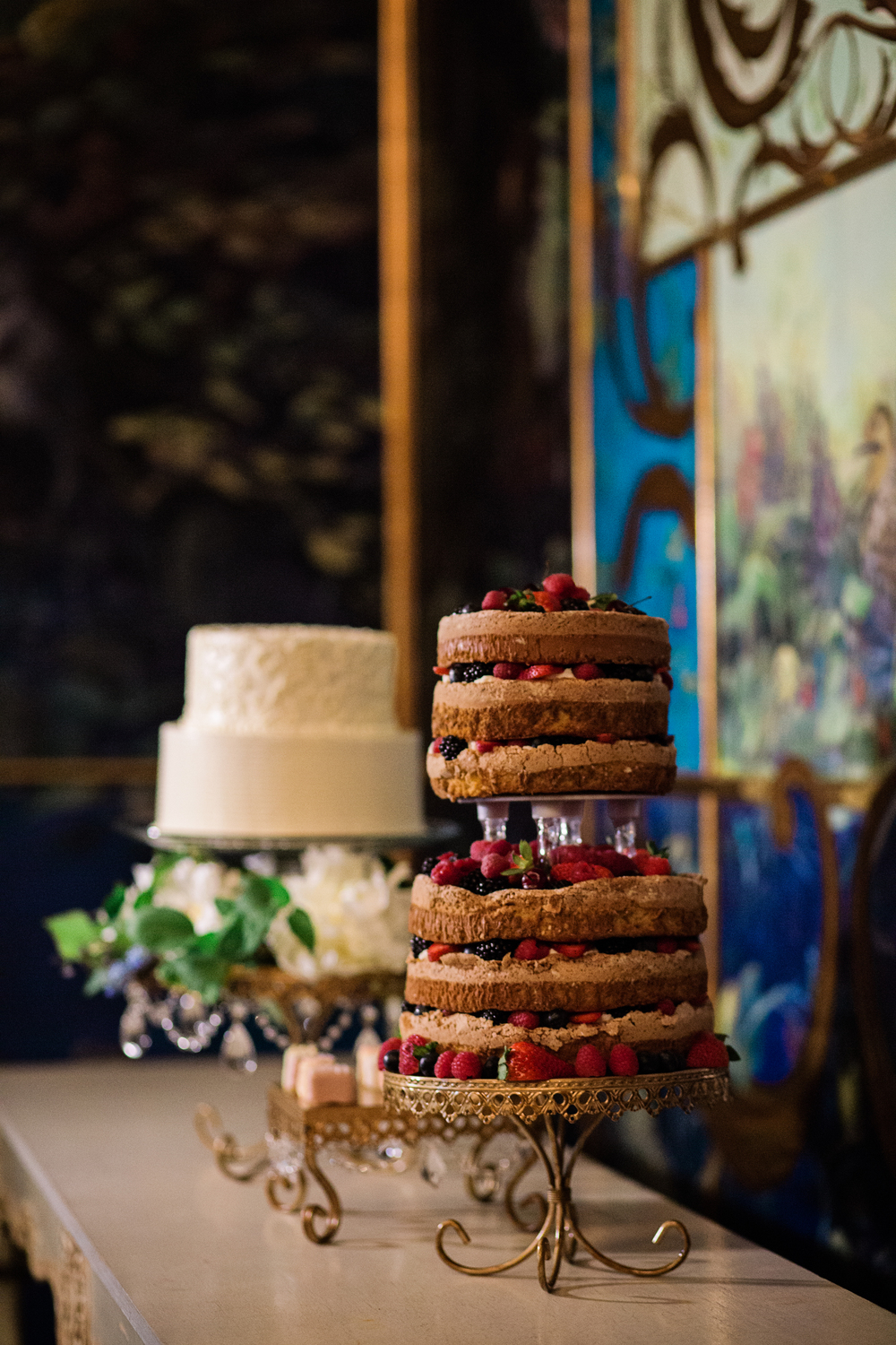 theruins.net | Alante Photography | Wedding Cakes in Seattle | The Ruins Pastry Chef | Opulent Treasures Cake Stands