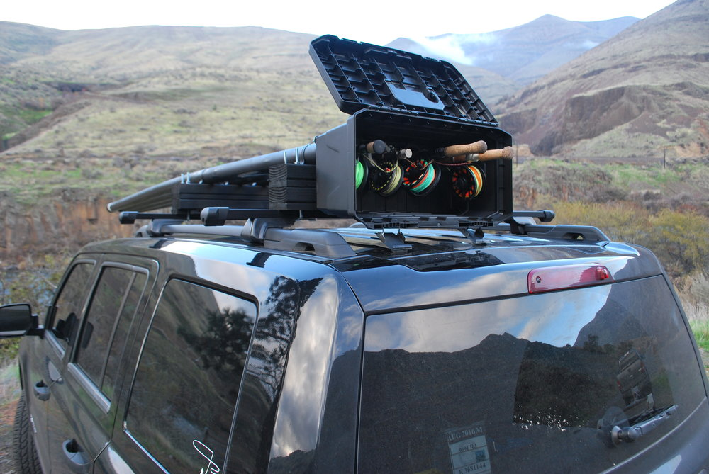 Fly rod car rack cosmecol for Fishing pole roof rack