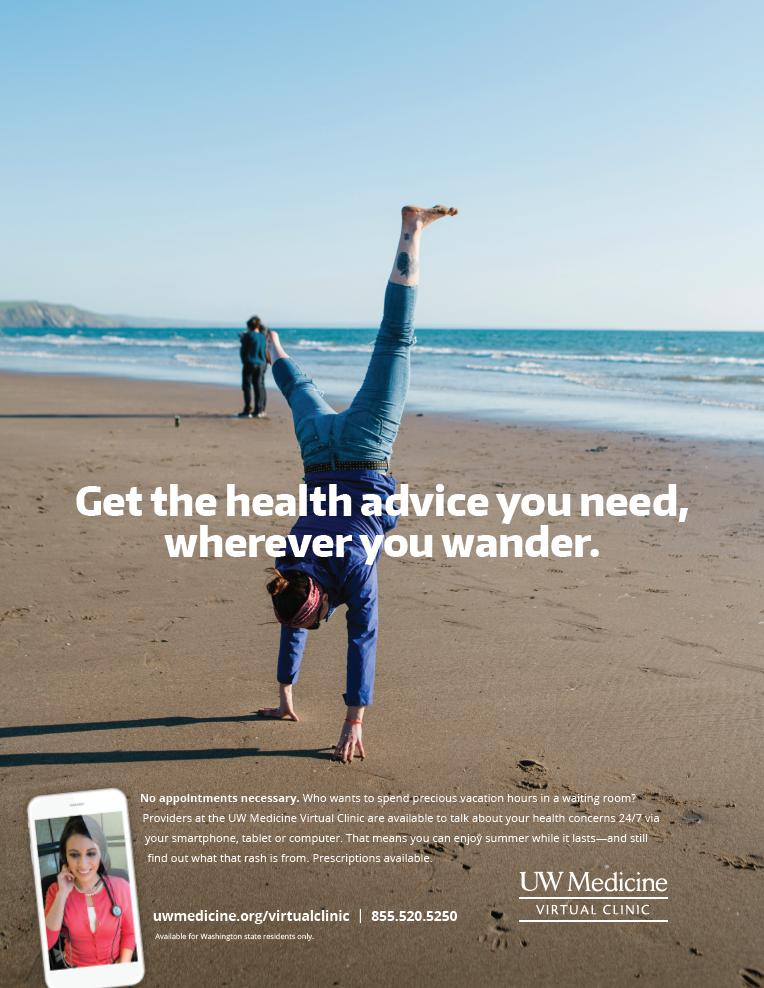 UW Medicine Virtual Clinic ad copy