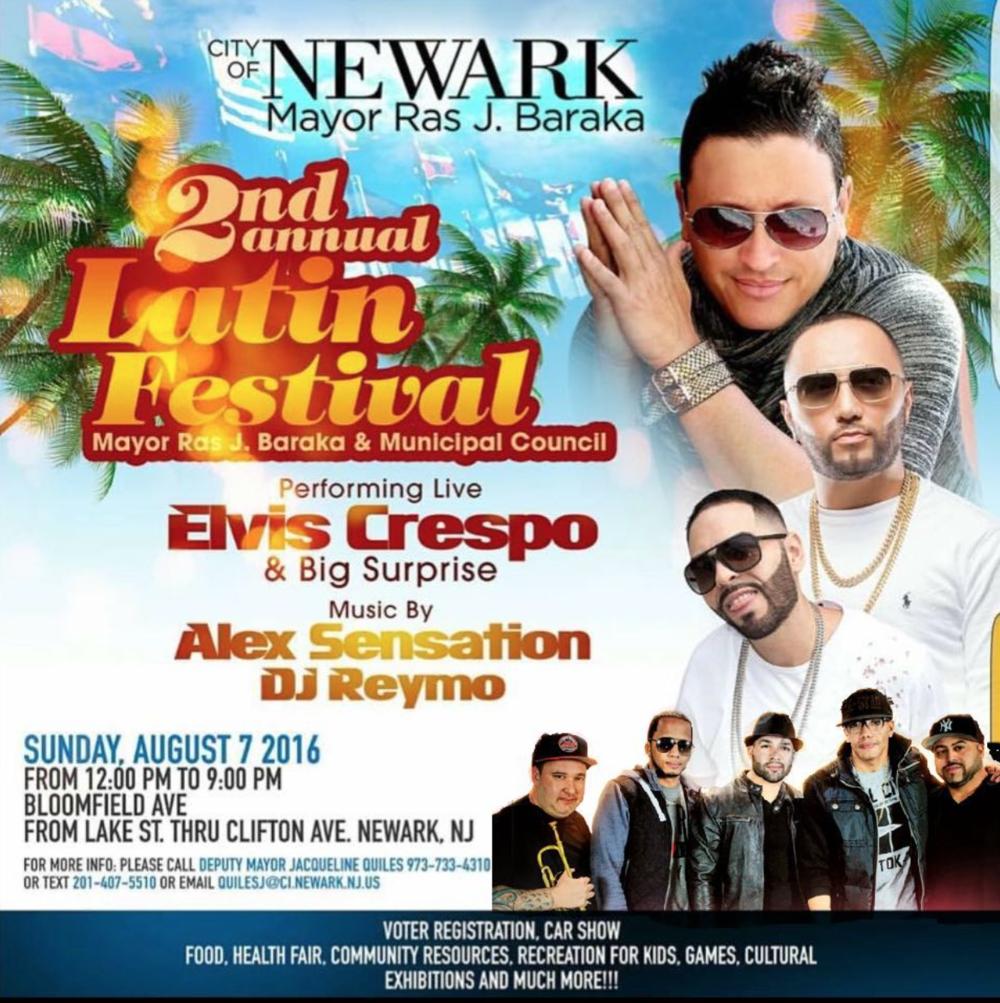 2nd Annual Latin Festival - Newark, NJ August 7, 2016