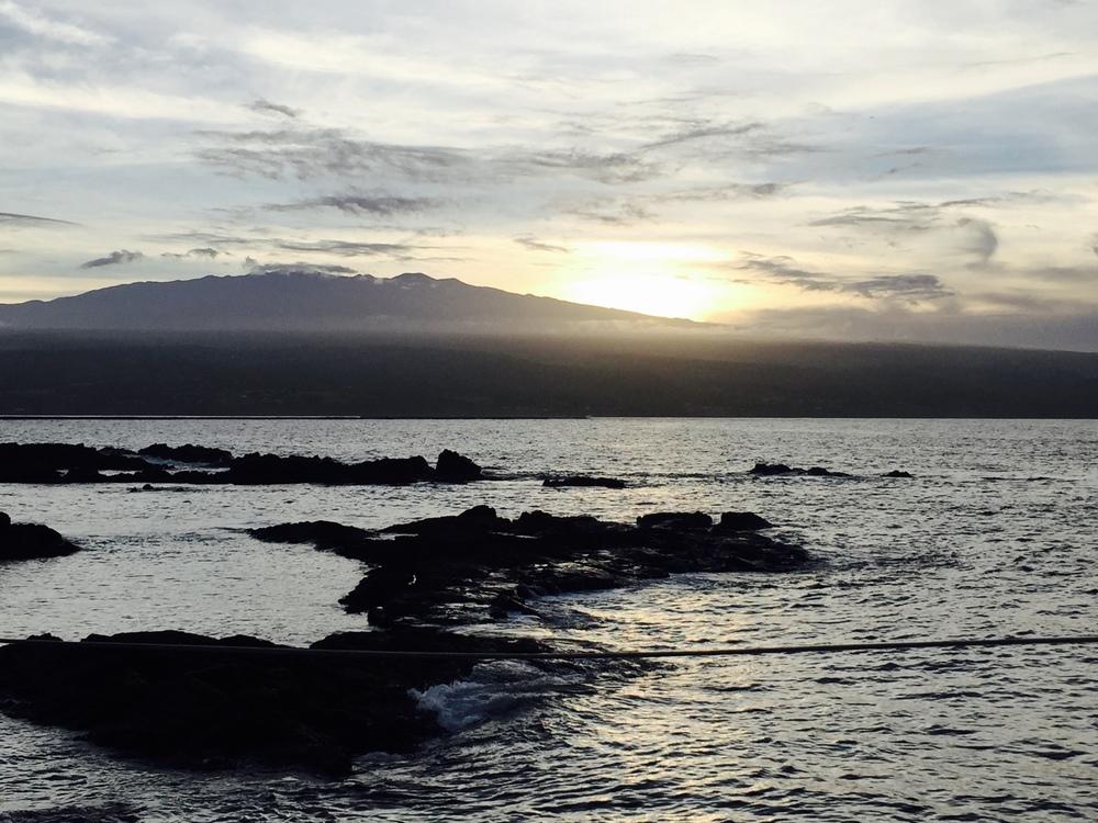 Sunset Behind Mauna Kea