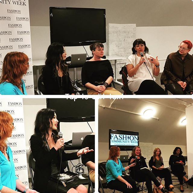 Thank you for the amazing panels tonight @sf.fw with @thenicolecw @boonandgable @betabrand_hq @fisfatmacys @changecatalysts @lawontherunway @dhanaecokids & #peoplewearsf. Inspiring to hear from industry insiders about their vision of the future of sustainable fashion.