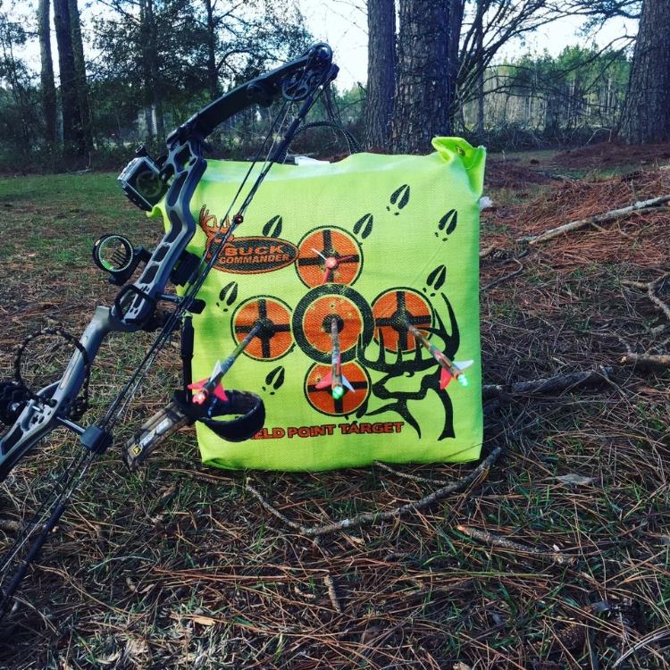 Branden Barfield shows some of his accurate shots when using a Precision Peep sight.