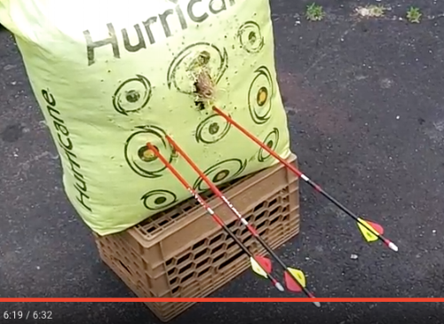 This 100 yard archery shot was done using Mathew's Archery Halon, and of course, Richie's Precision Peep.