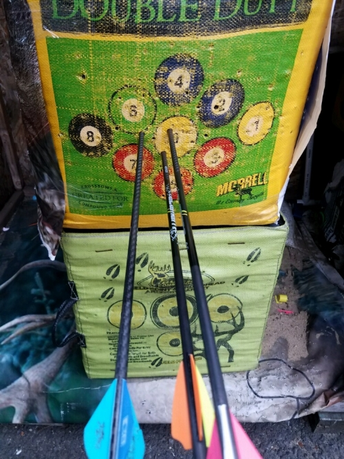 100 Yards into a target bag.