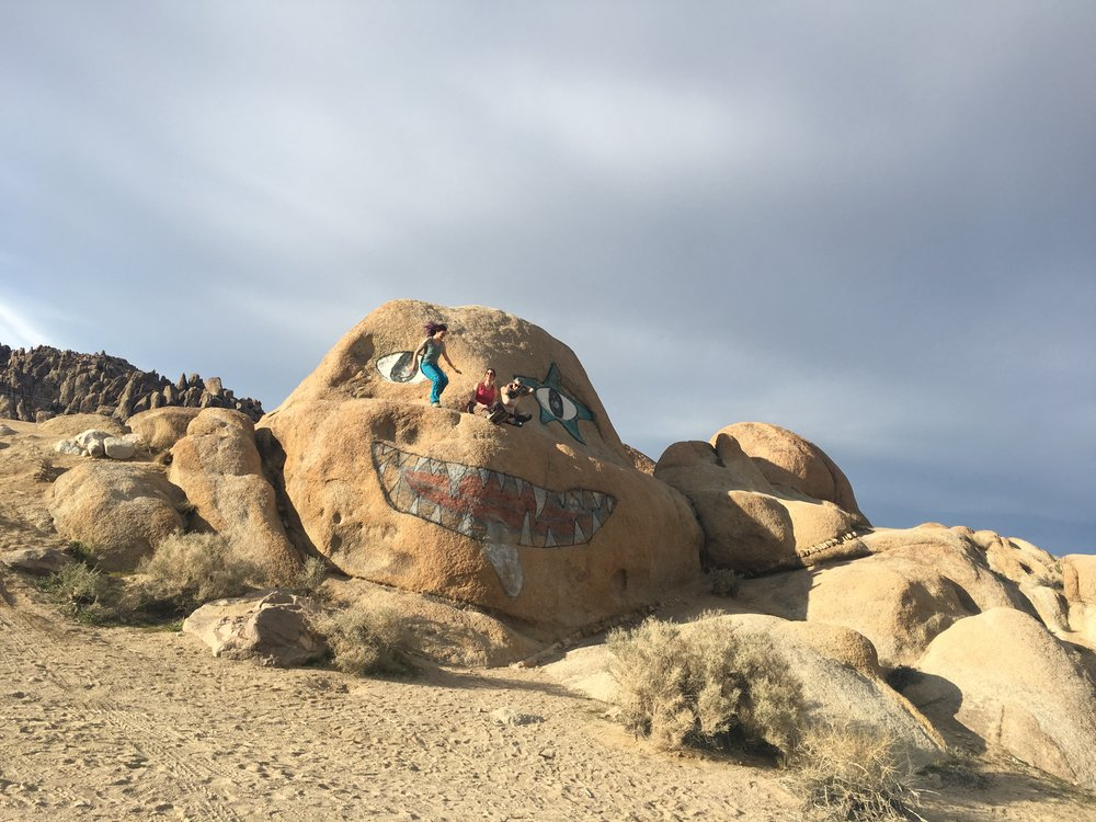 up on Alabama Hills