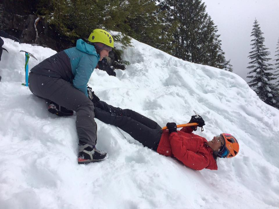 WAC instructor training - ice axe self- arrest