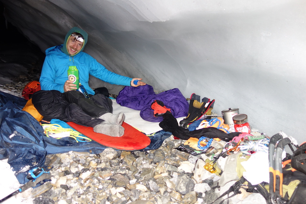"""Jimmy says: """"Please, join me, in my comfortable little ice cave house."""""""