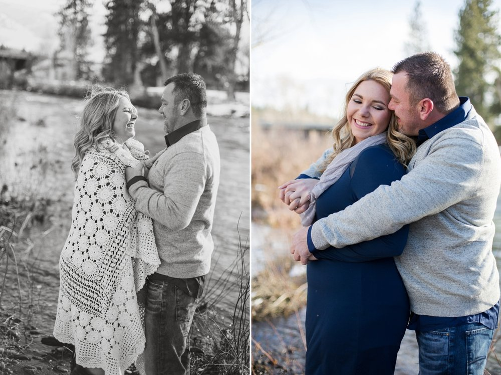 I love these photos right next to the Truckee River. These two were giggling through their entire session!
