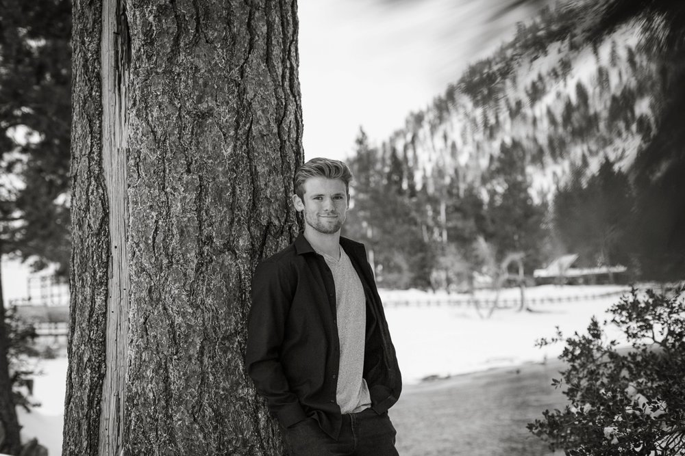 sand harbor lake tahoe snow session senior portraits