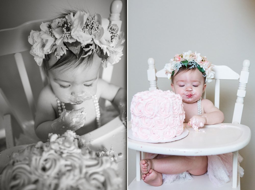 reno photographer cake smash girl one year kristi gayton photography