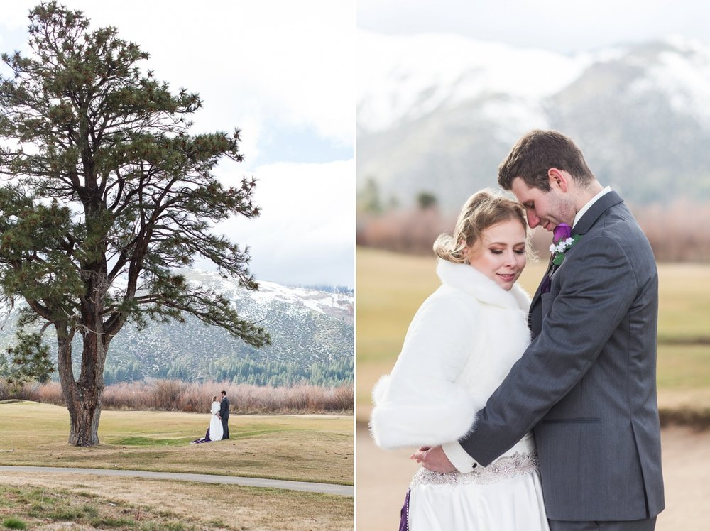 Toiyabe golf course looked so pretty with the snow capped mountains in the backdrop! Perfect for a February wedding!