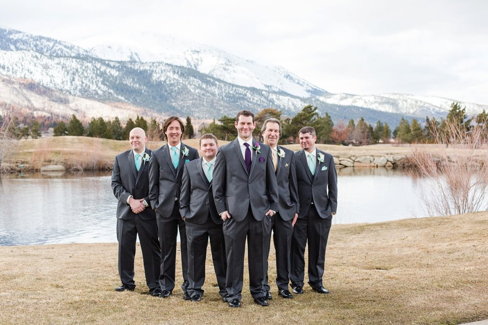 Look at this handsome group of groomsmen! Jeff chose his Dad, Bob, to be the best man! What a special honor!
