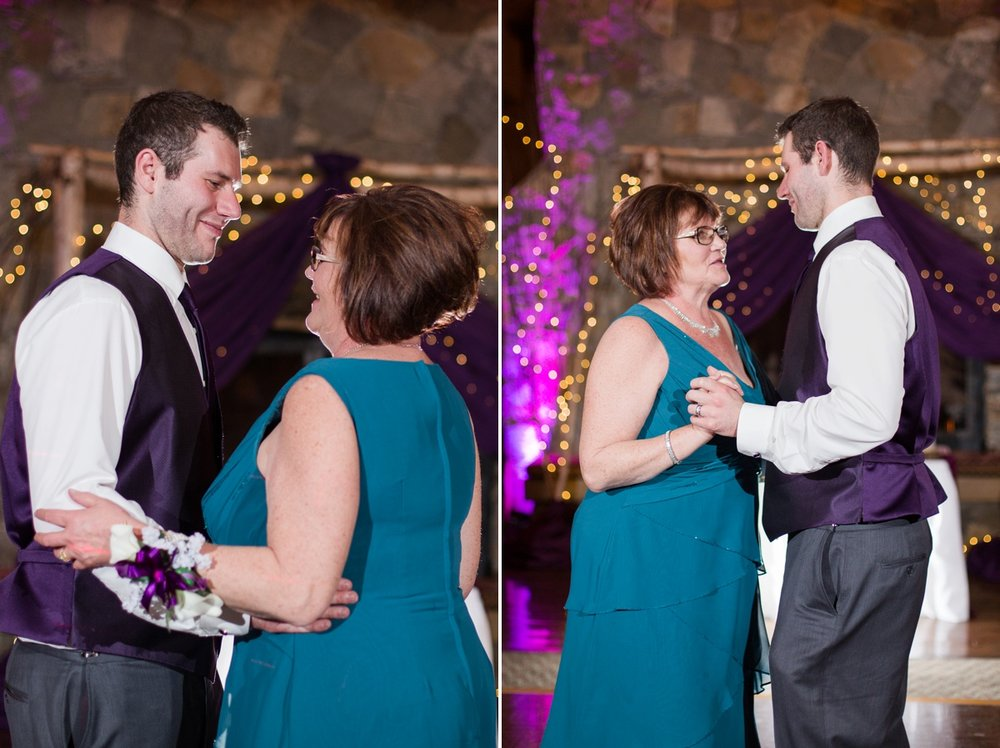 Jeff and his beautiful Mom keeping it more traditional ...