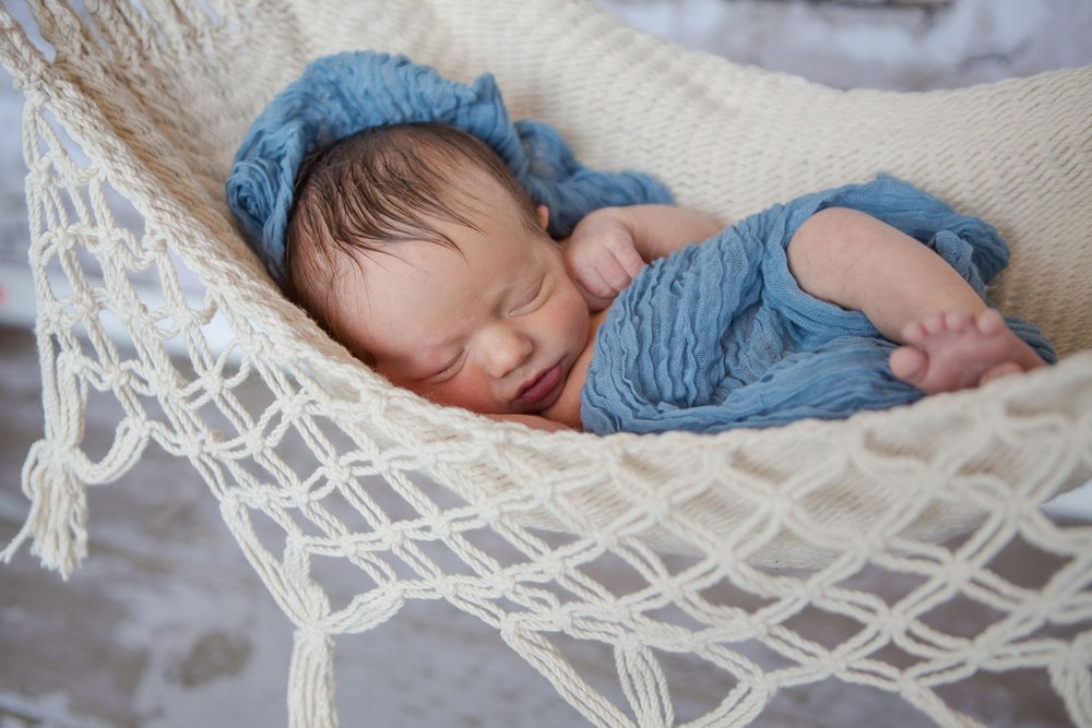 reno newborn photographer baby in hammock kristi gayton photography