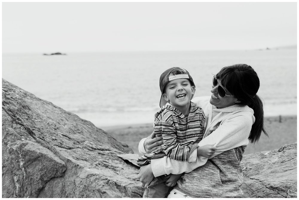 Kristi Gayton Photography Bodega Bay beach with declan
